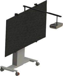 Interactive whiteboard with projector mount set – MBL-SHRT-100