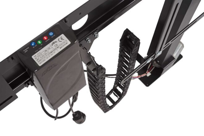 Cable guide in K-Premium type TV lift - Sabaj System