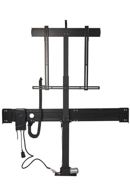 Fully extended motorised TV lift from K-premium series - Sabaj System
